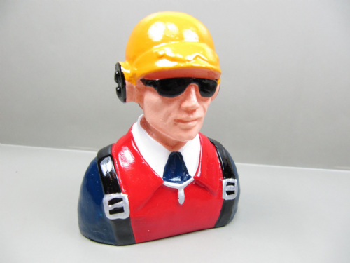 Resin Civilian Pilot Figure 80mmx68mmx35mm